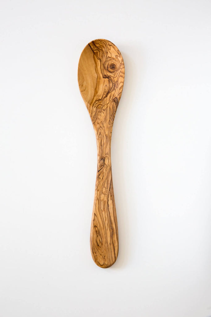 Olive Wood Long Serving Spoon