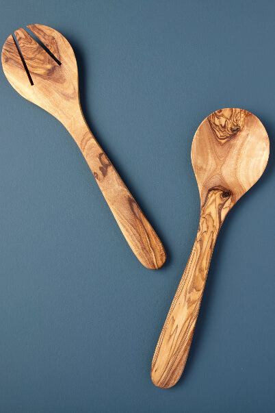Be Home Olive Wood Round Serving Set
