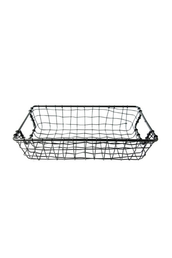 Be Home Small Rectangle Wire Basket