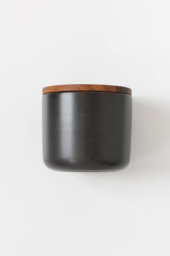 Stoneware Container in Black