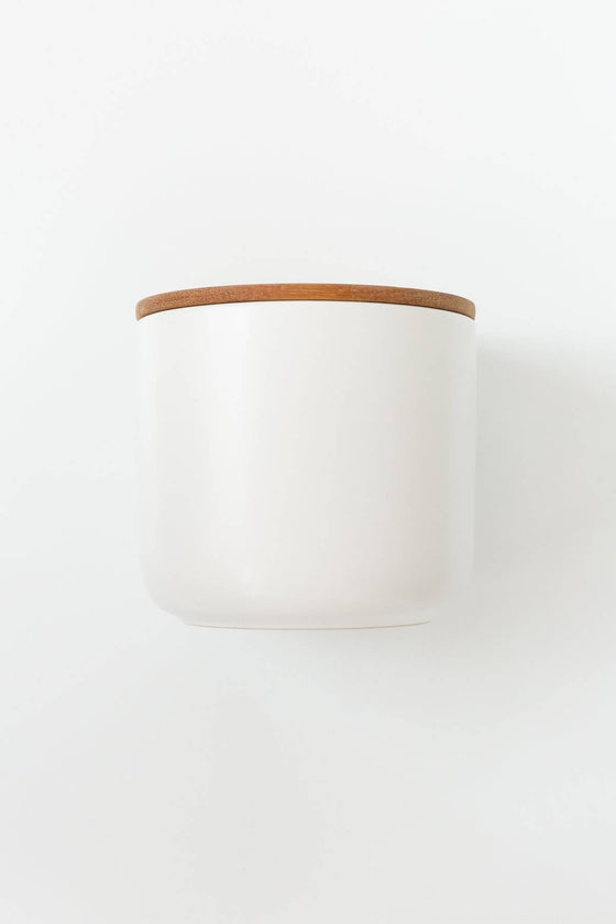 Stoneware Container in White