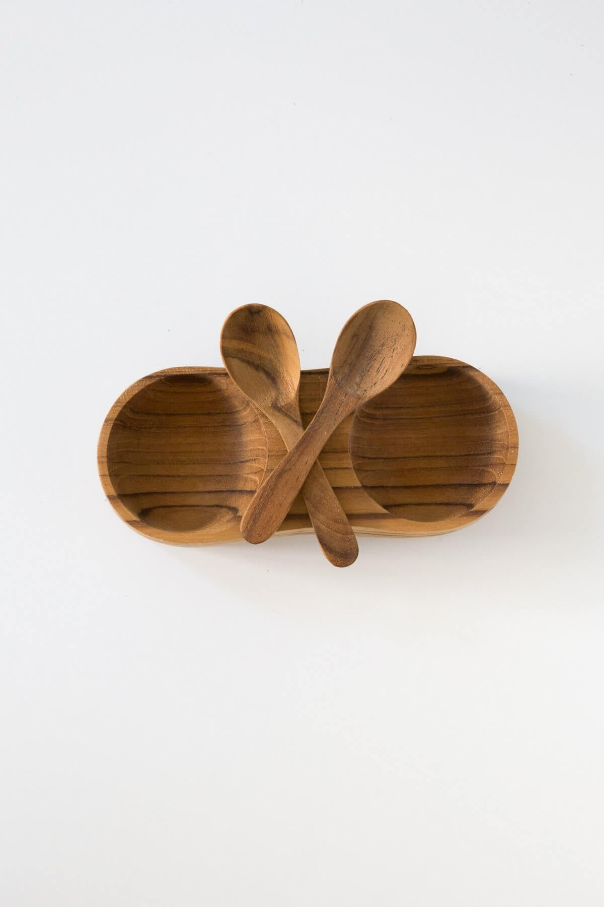 Be Home Teak Salt + Pepper Cellar with Spoons