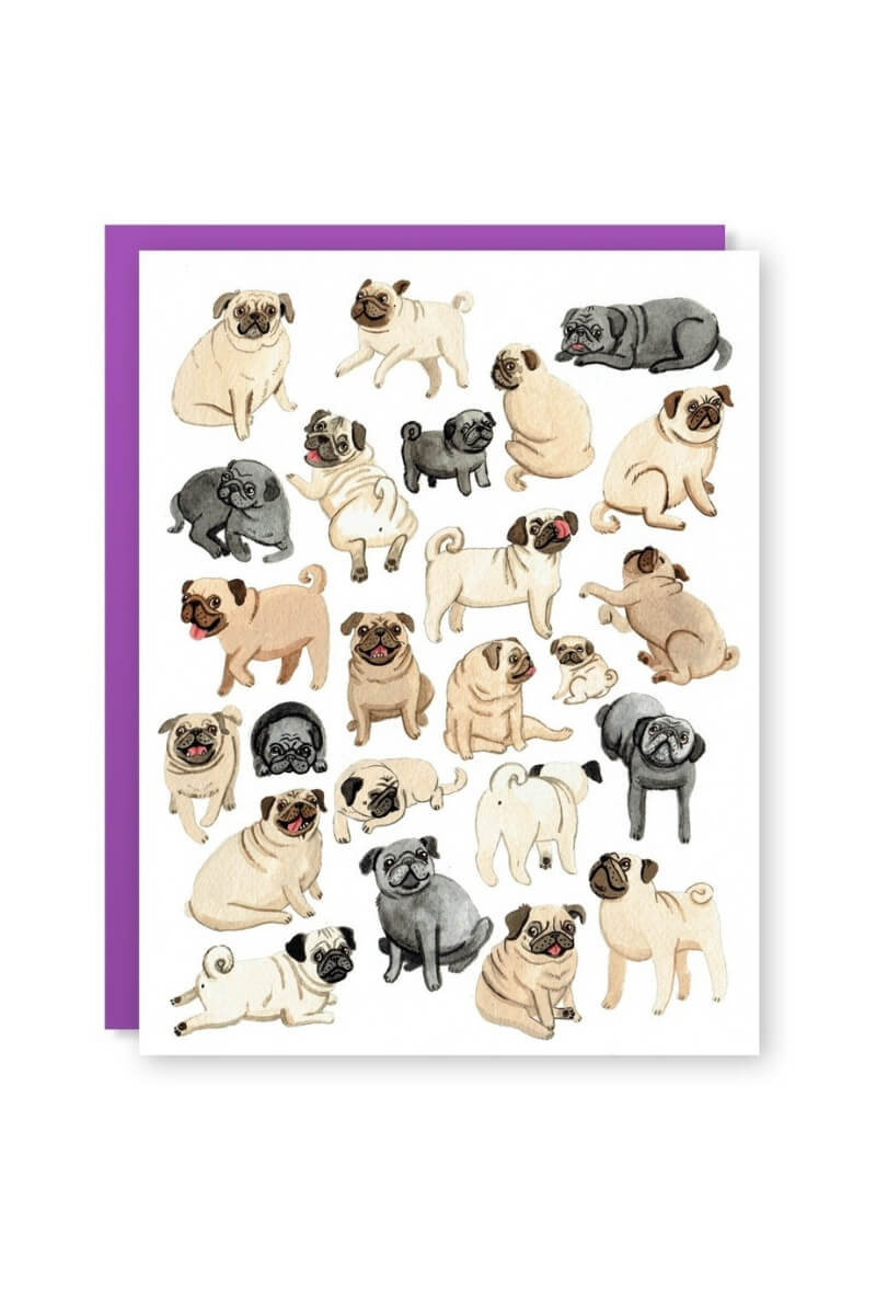 Cactus Club Pug Pals Card