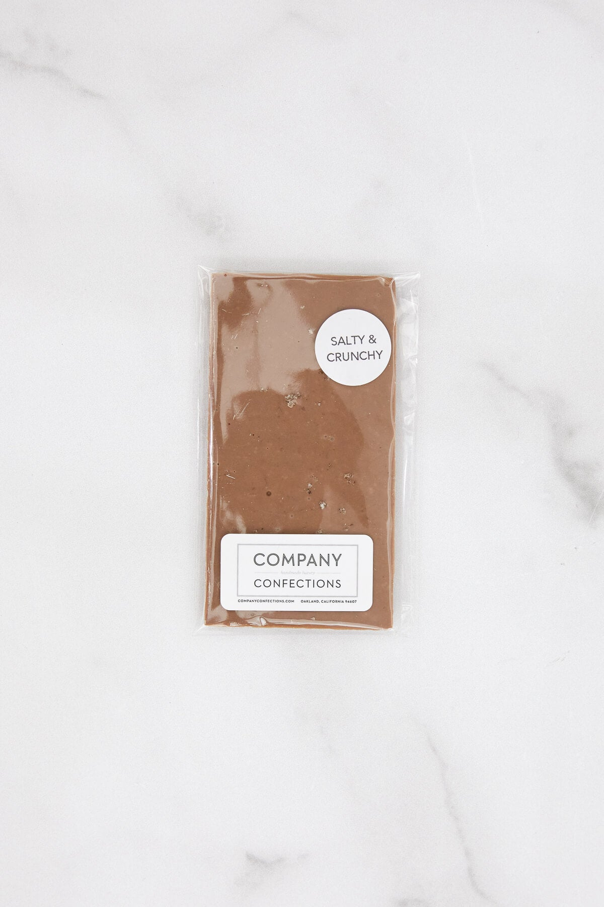 Company Confections Salty + Crunchy Milk Chocolate Bar