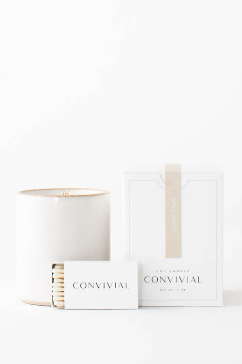 Convivial Stone Fruit Candle