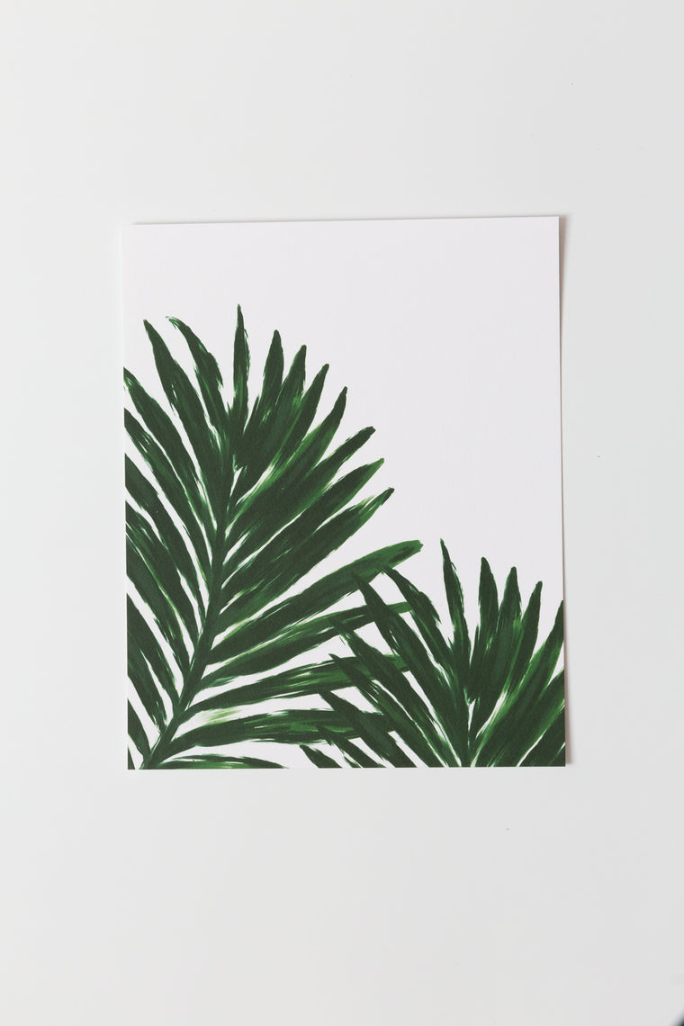 Palm Leaves Print
