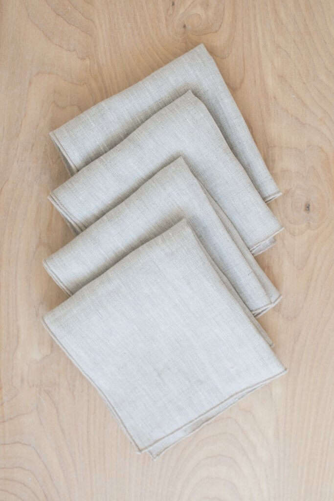 Fair + Simple Linen Napkins in Natural