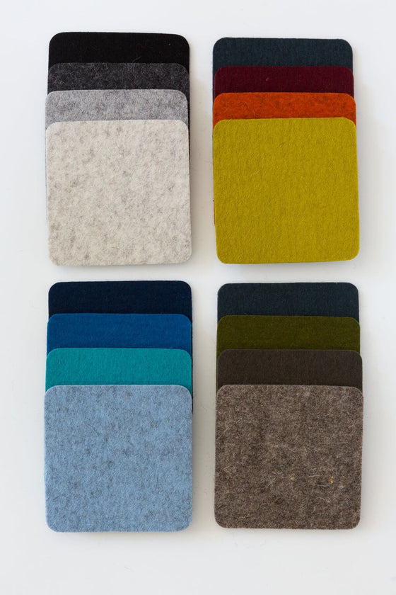 Multi Color Square Coaster Set
