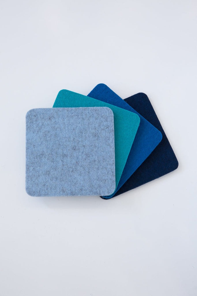 Square Multi Color Coaster Set