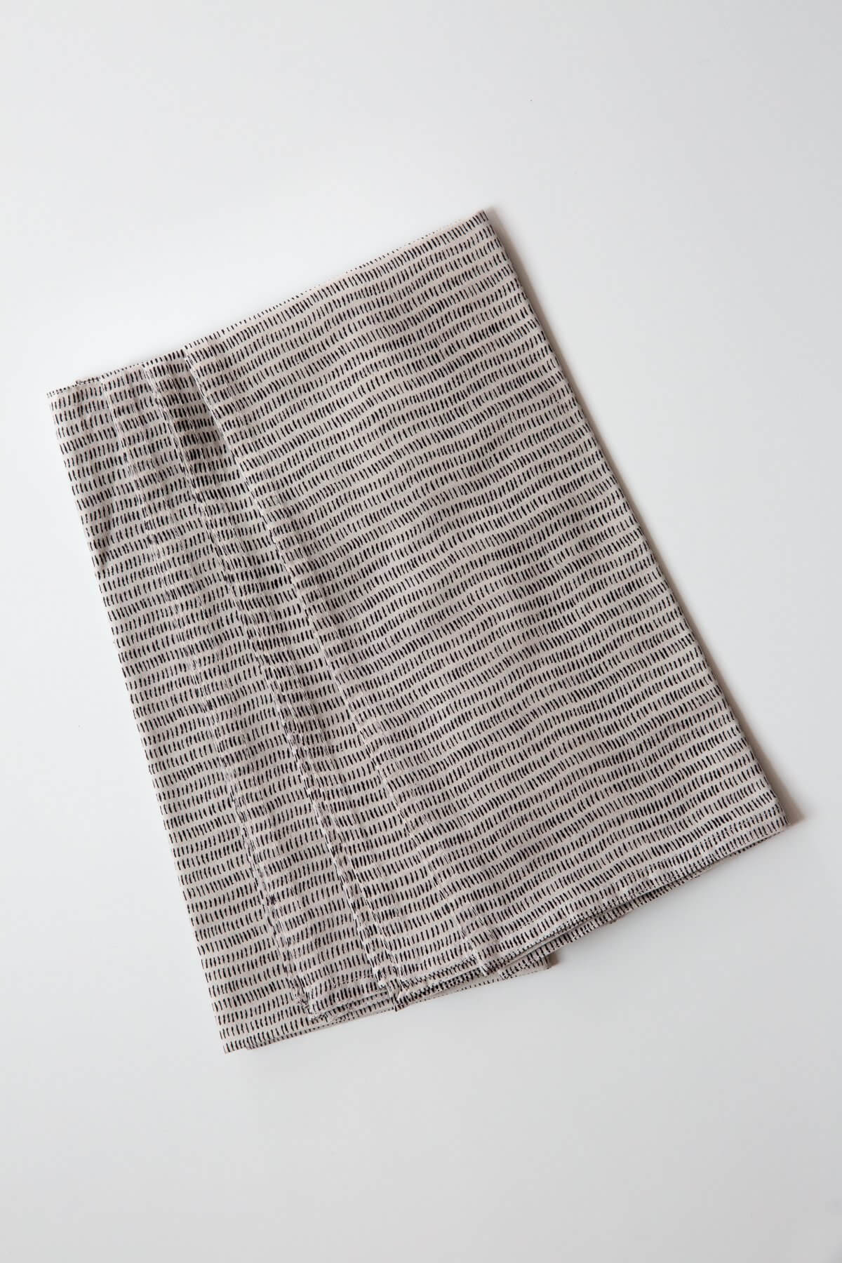 Gray Market Alice Stripes Black Napkin Set