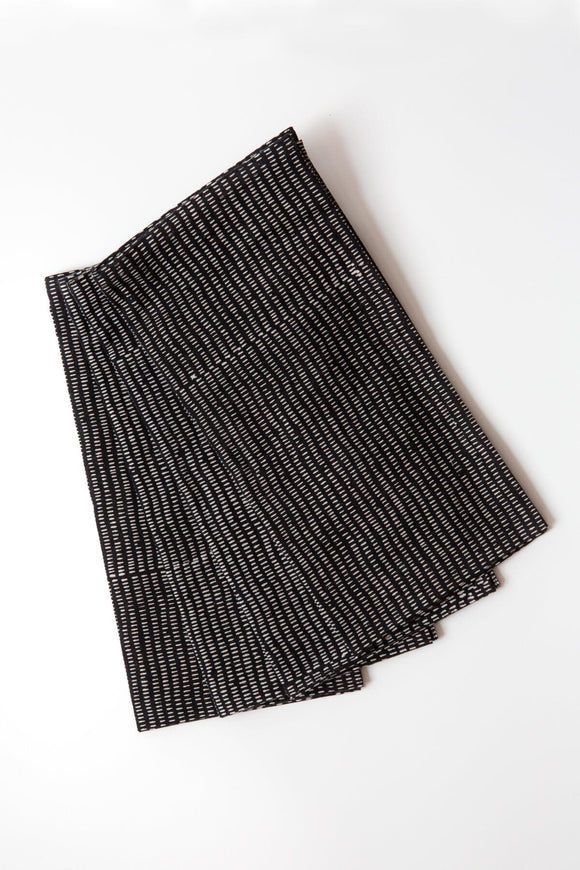Alice Stripes Midnight Napkin Set