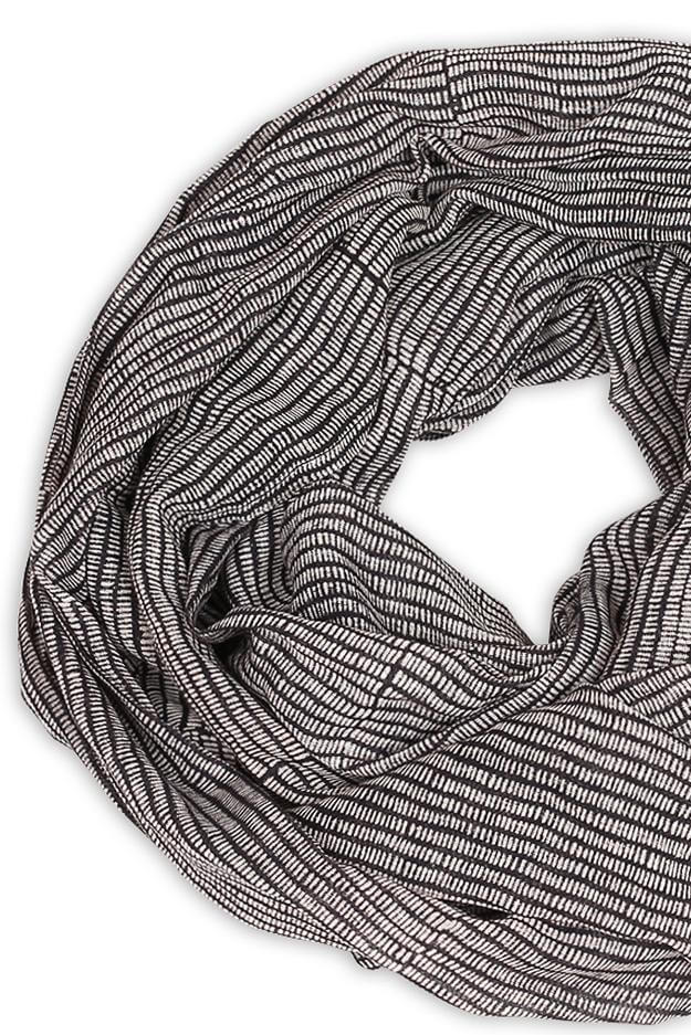 Alice Stripes Midnight Scarf