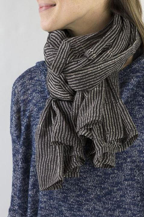 Gray Market Alice Stripes Midnight Scarf