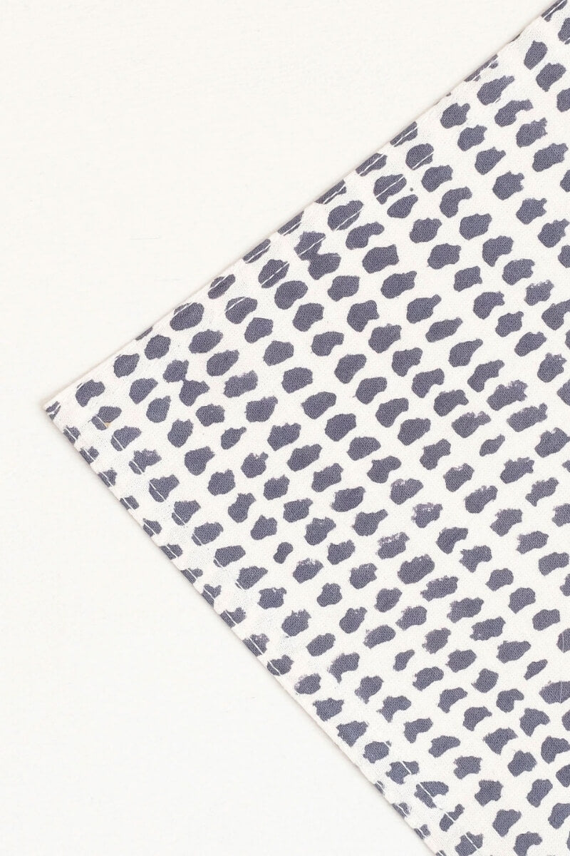 Gray Market Block Printed Tablecloth