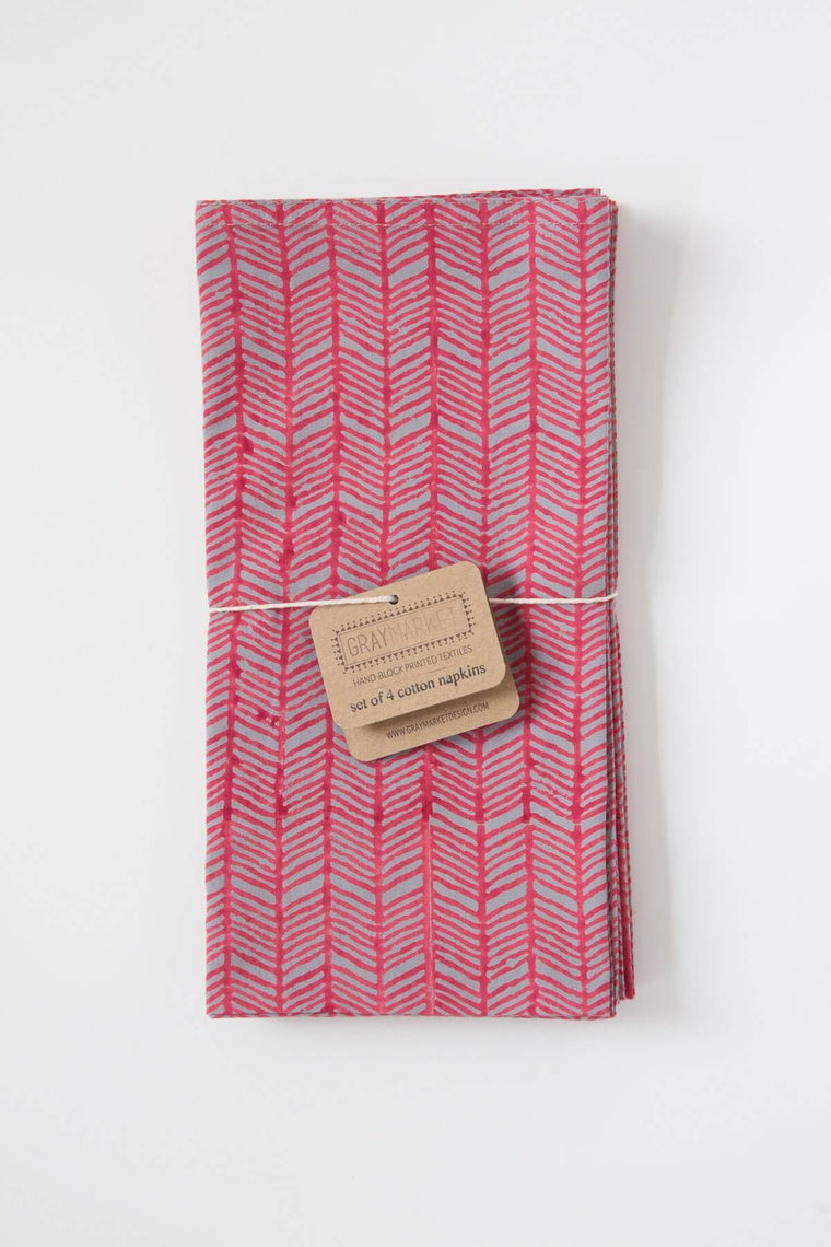 Plume Red Napkin Set