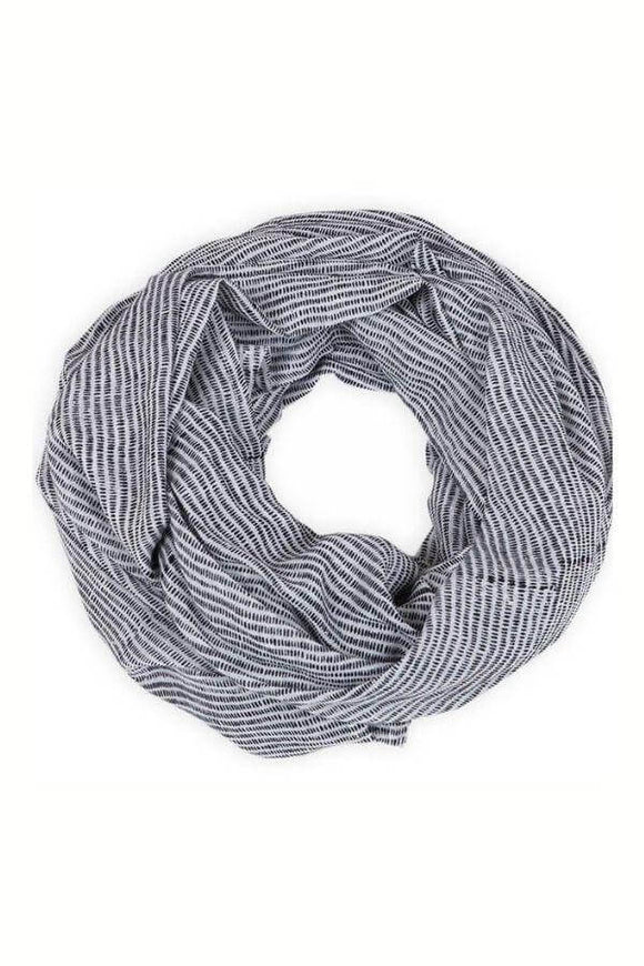 Alice Stripes Black Scarf