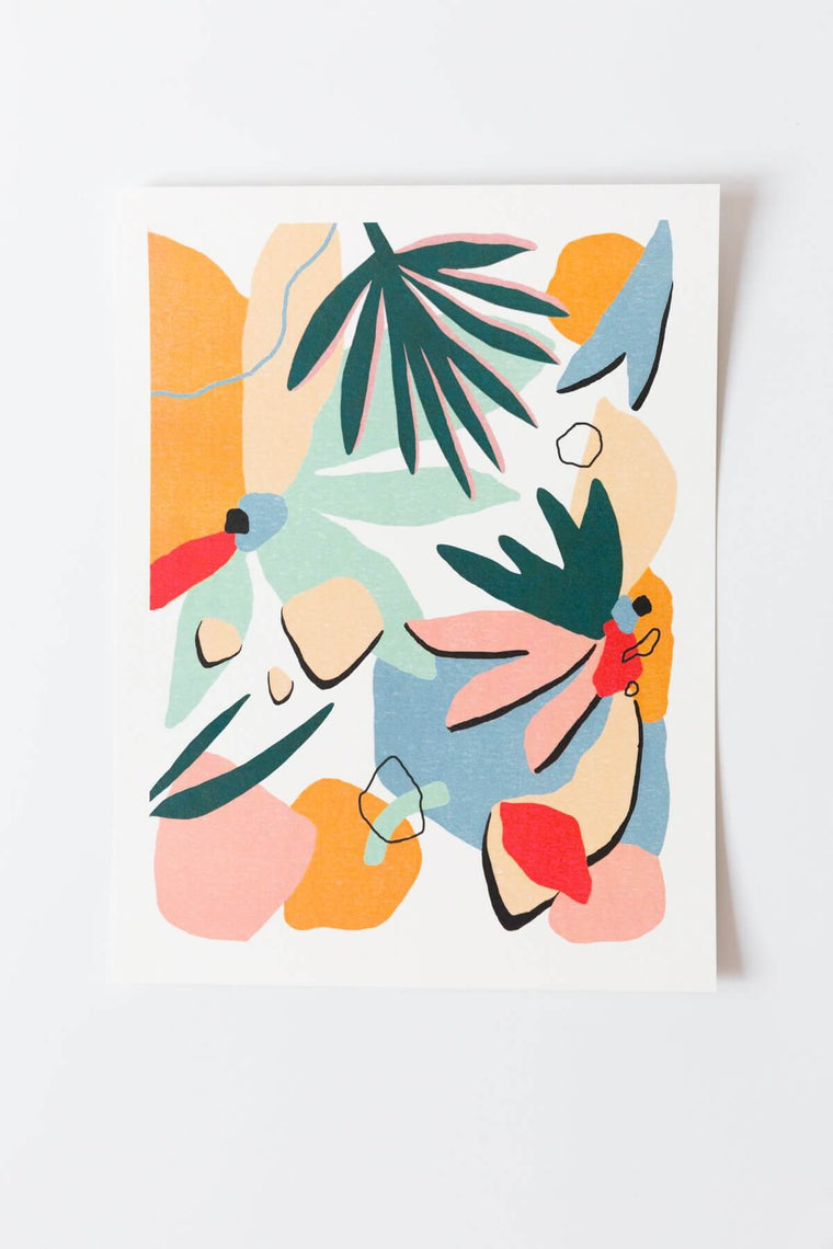 Palm + Perkins Art Print