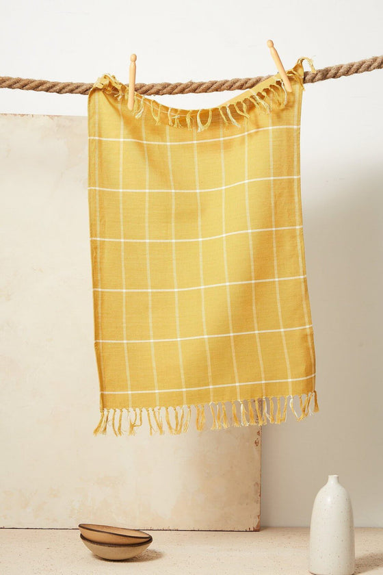 Grid Towel Gold