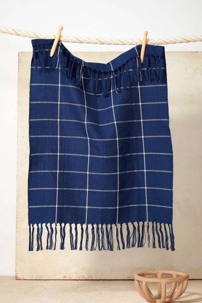 Grid Towel Indigo