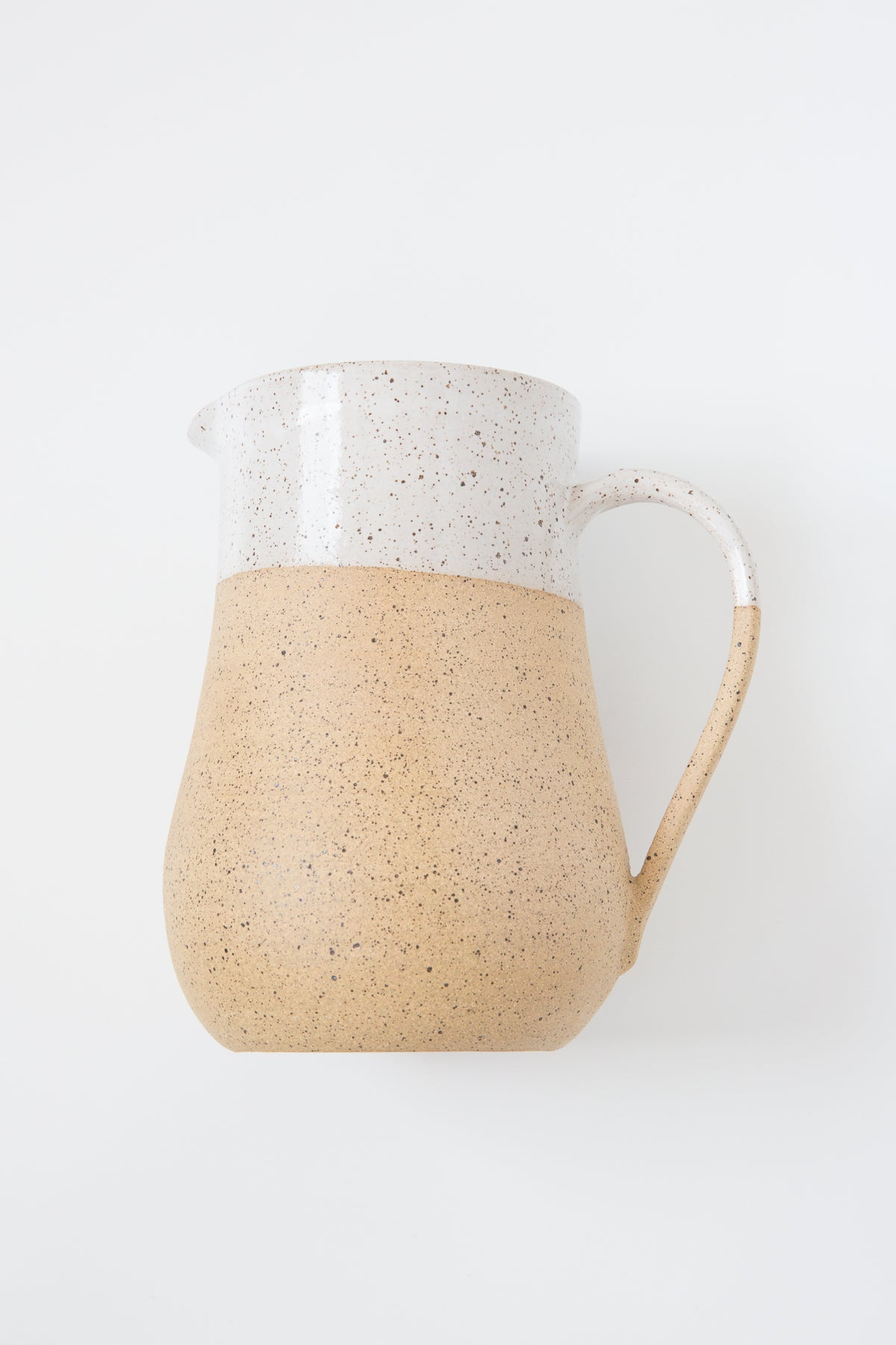 Rachael Pots Large Speckled Clay Pitcher