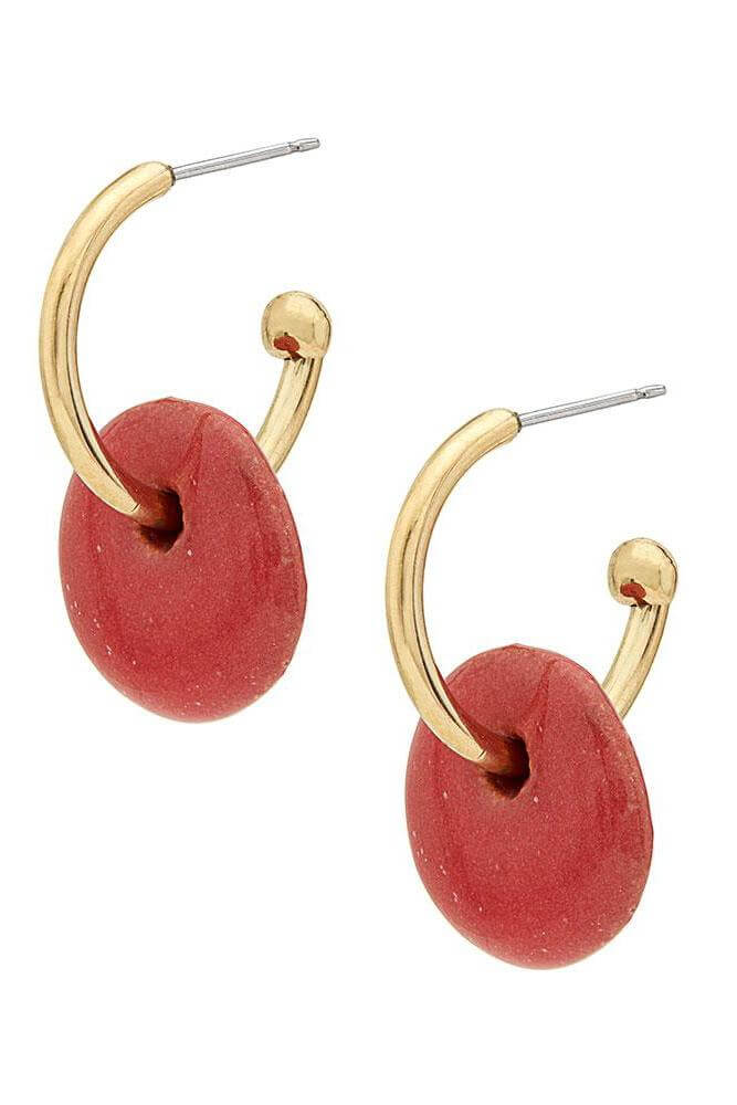 Kazuri Mini Disc Hoop Earrings