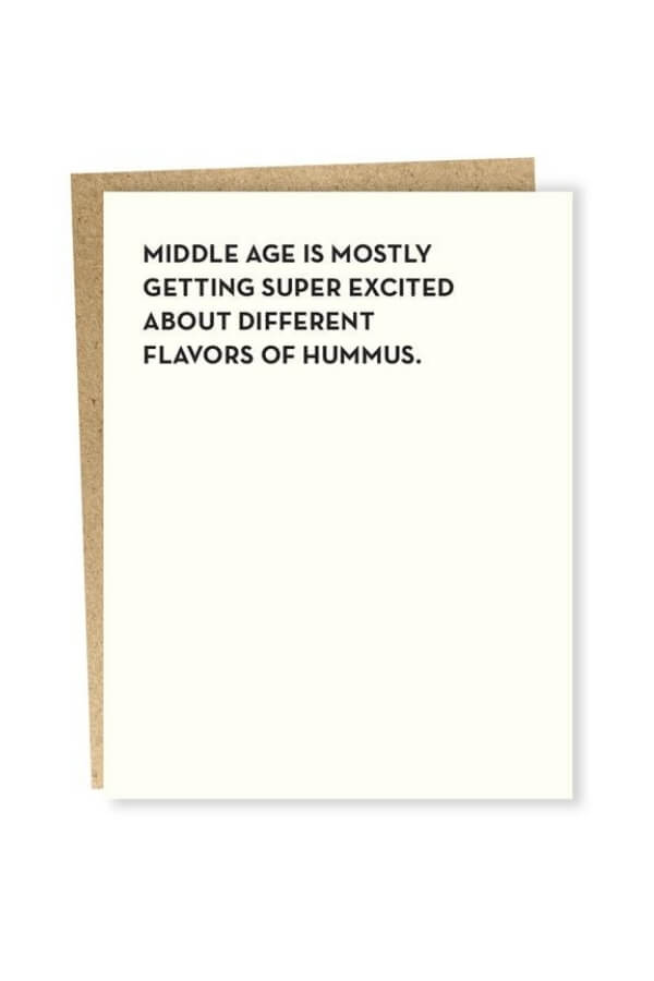 Sapling Press Hummus Card