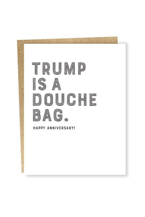Sapling Press Trump Douchebag Anniversary Card
