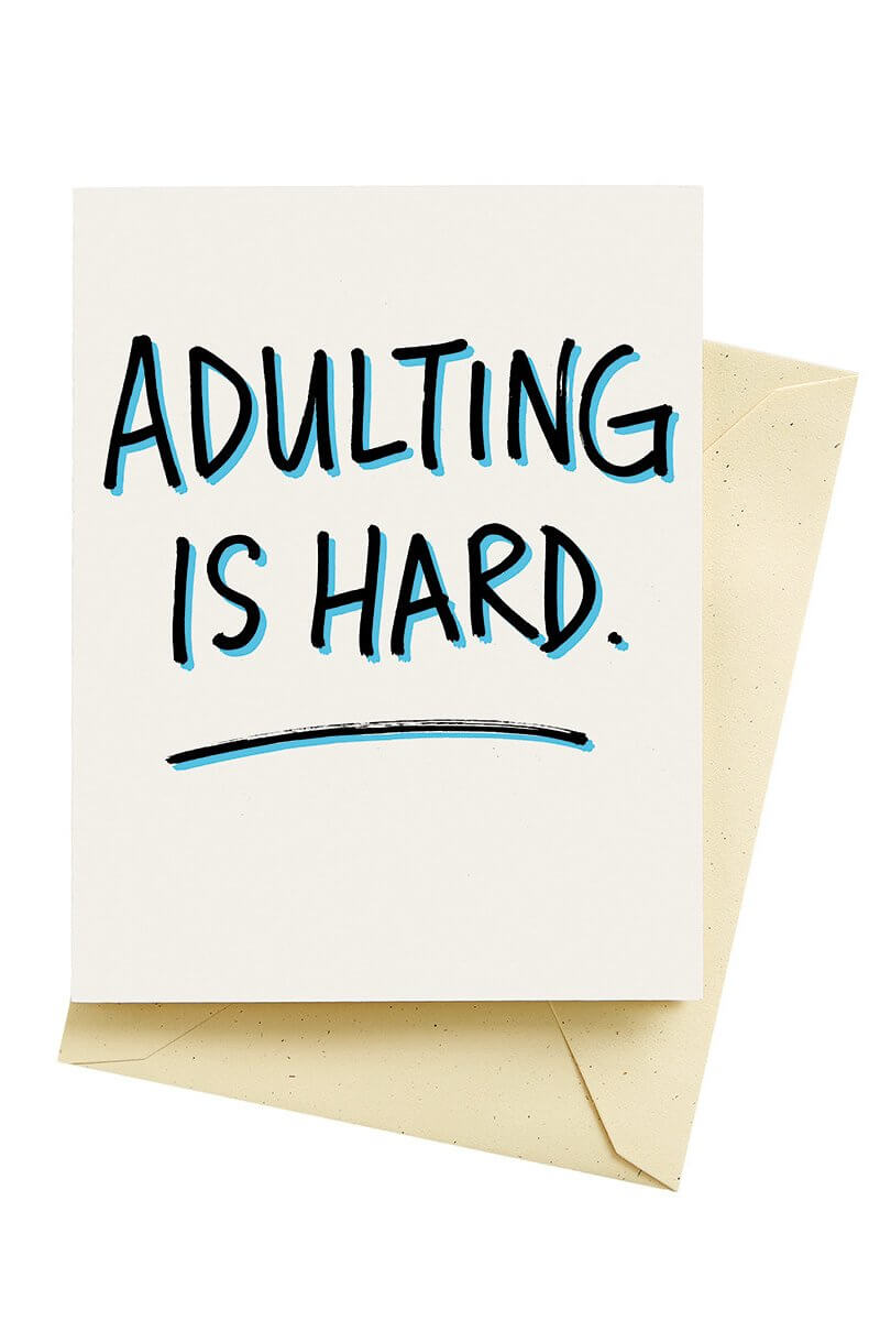 Adulting Card