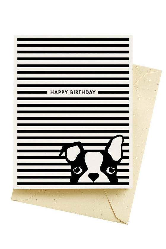 Dog Stripes Birthday Card