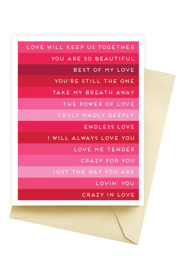 Love Songs Card