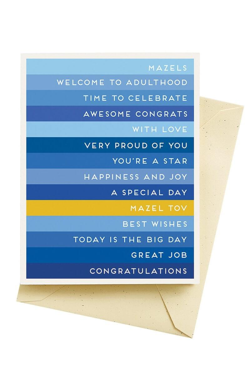Seltzer Goods Stripes Mazel Tov Card