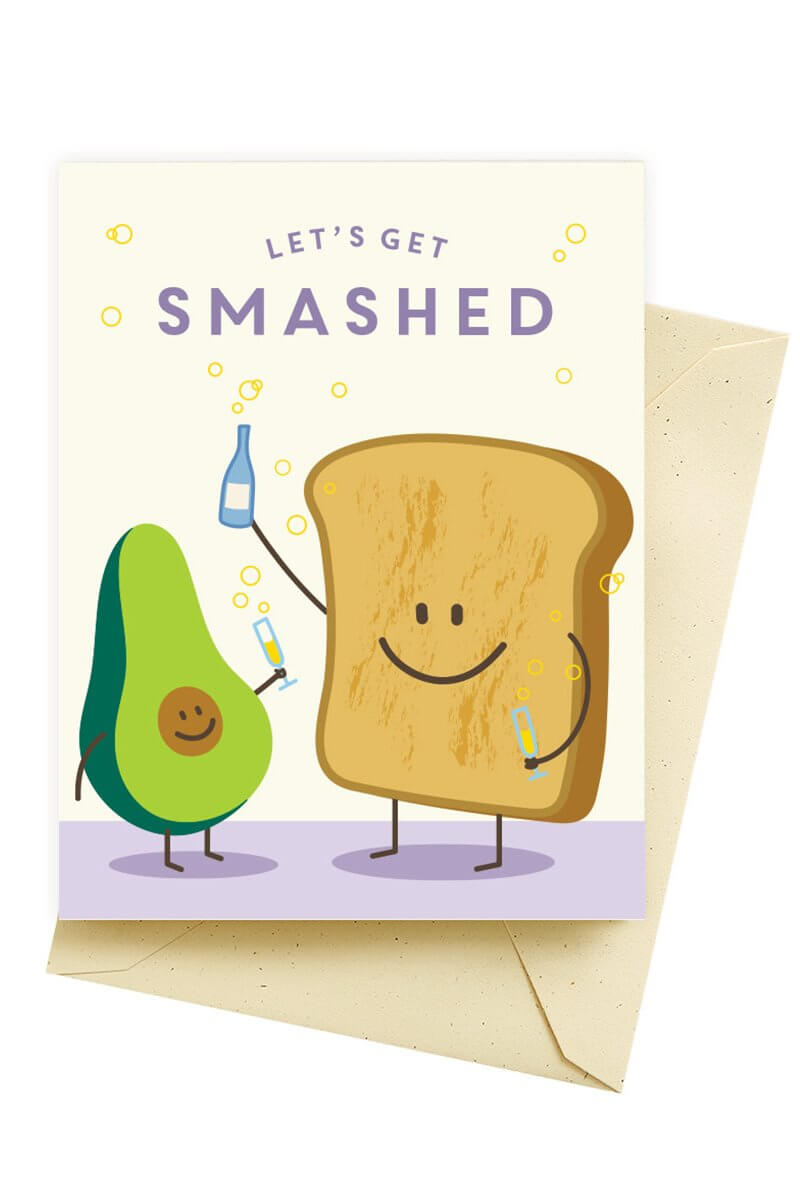 Seltzer Goods Smashed Birthday Card