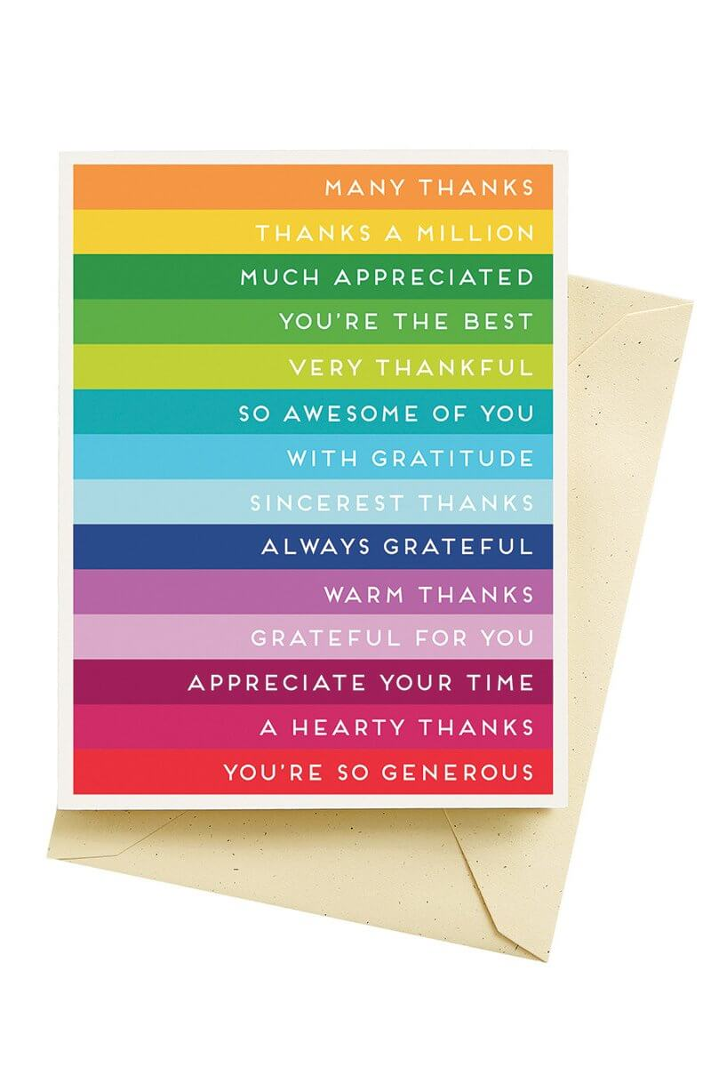 Seltzer Goods Stripes Thank You Card