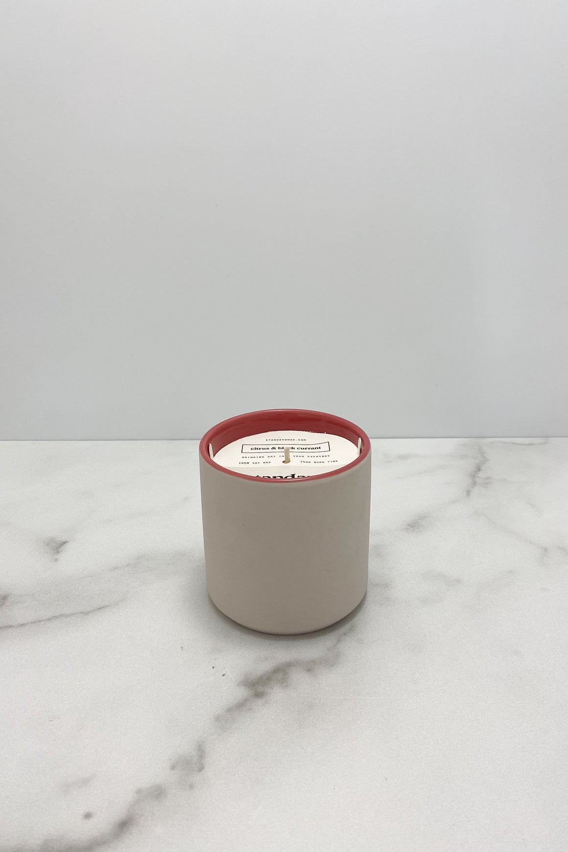 Citrus + Black Currant Ceramic Candle