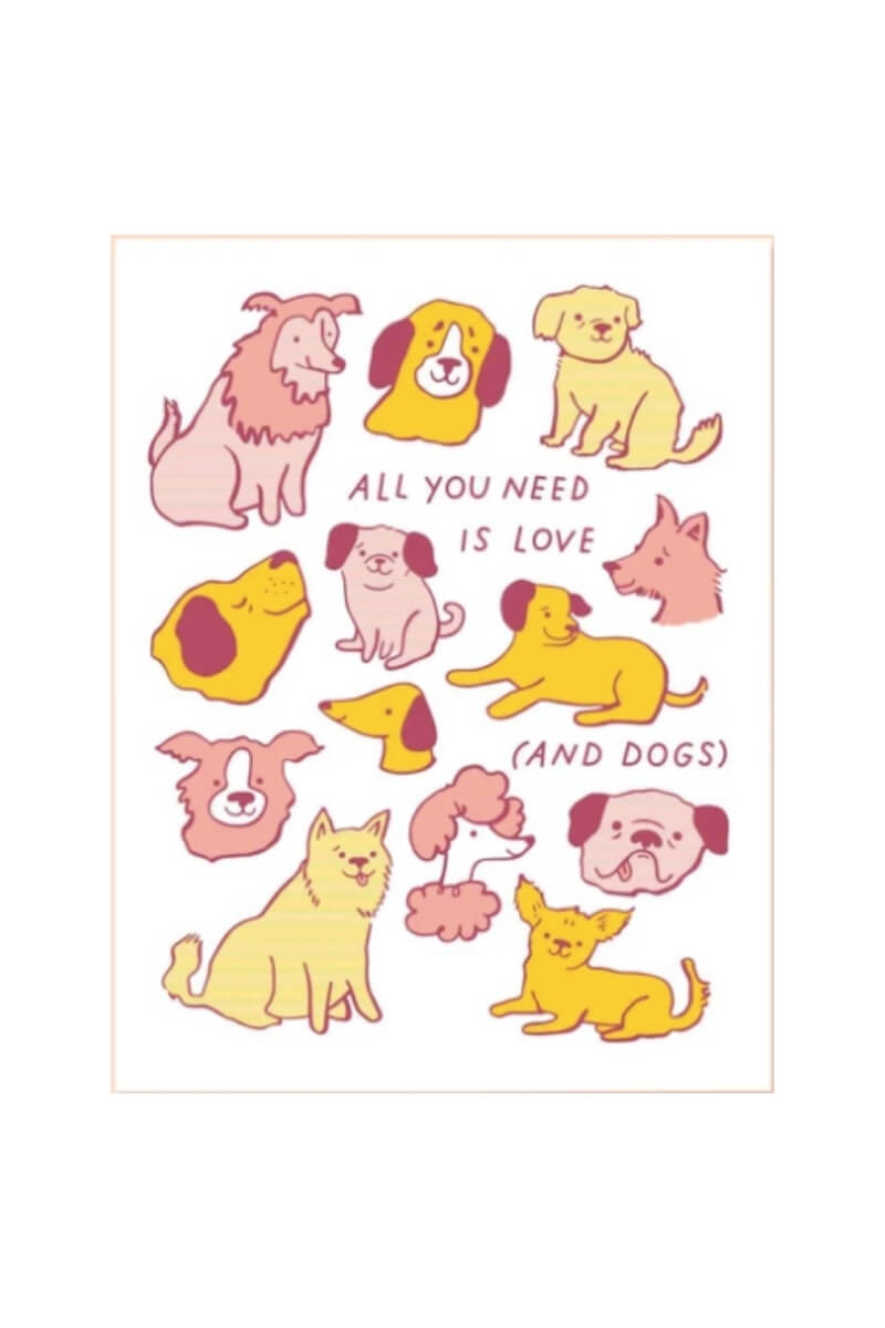 The Good Twin Love and Dogs Card