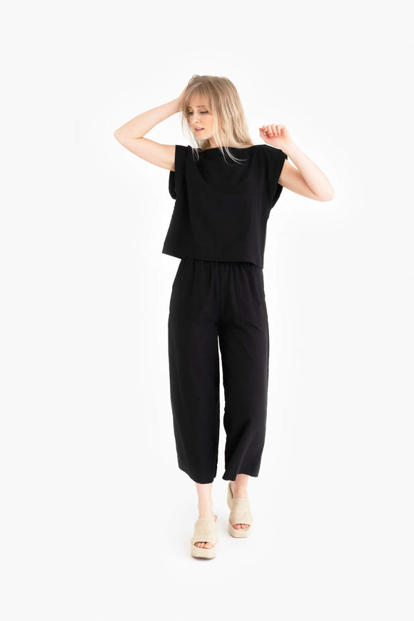 Tribe Alive Everyday Black Crop Pant