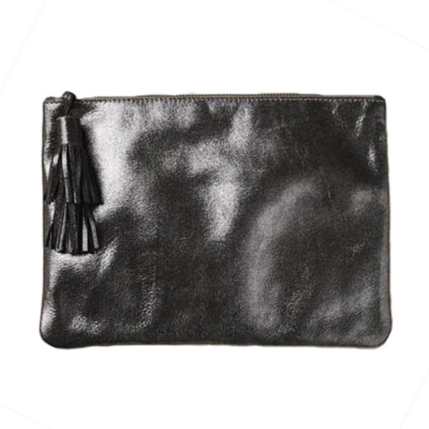NIGHT FEVER POUCH IN METALLIC BLACK