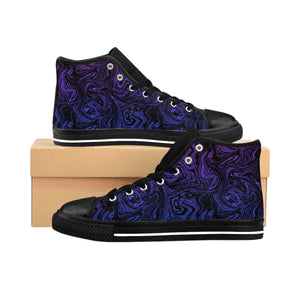 Blue Swirl Women's High-top Sneakers