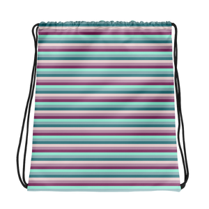 Striped Drawstring bag