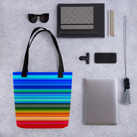 Vibrant Striped Tote bag
