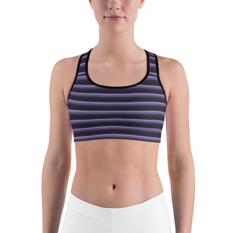 Moody Striped Sports bra