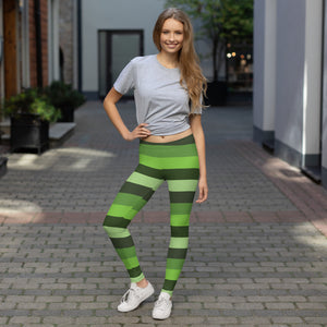 Green Stripped Leggings