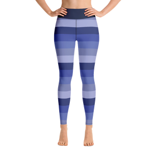 Blue Striped Yoga Pants