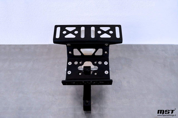 Single bracket navigation tower with roadbook / tripmaster holder plate