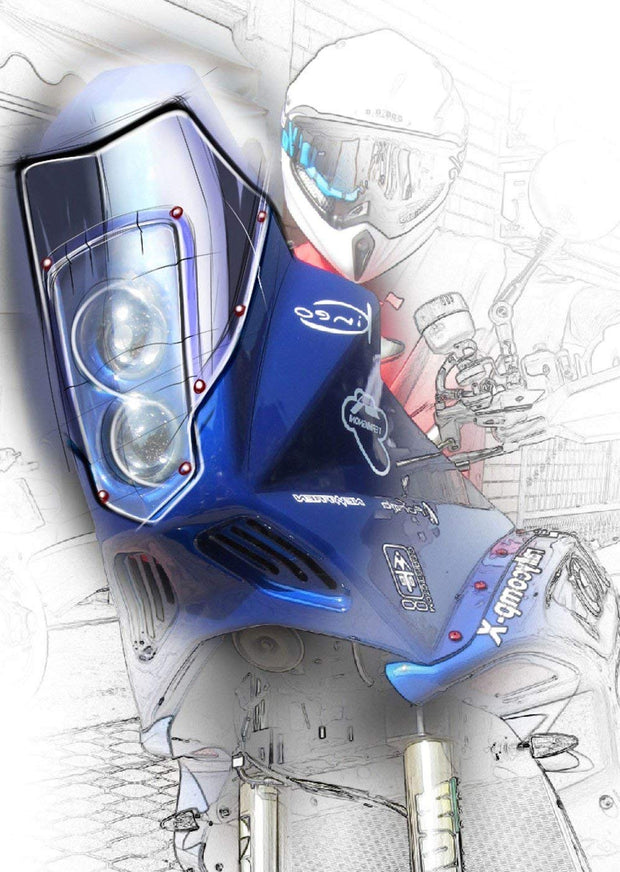 "MST0067 - Rally Comp ""X"" fairing kit for BMW F 800 GS Adventure with transparent Plexyglass"