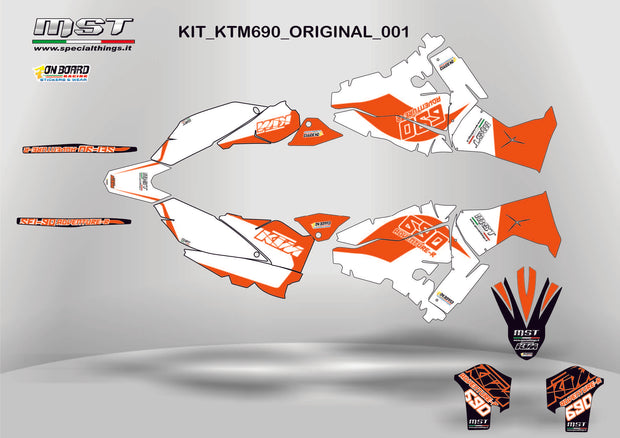 GRAPHICKIT.690 - Graphics kit for KTM690 Adventure-R Kit