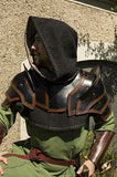 Shoulder Armour and Neck Guard Black/Brown