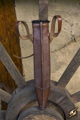 Full Scabbard Dagger Brown 33cm