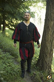 Landsknecht Pants Epic Black/Dark Red Medium