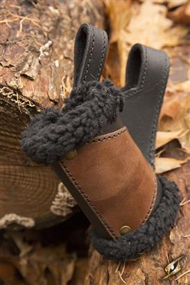 Holder - black Fur, black / brown - Left